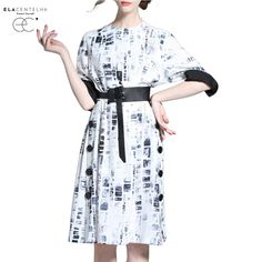 How good is this ElaCentelha Women.... Available at DIGDU today! http://www.digdu.com/products/elacentelha-women-dress-summer-print-dresses-elegant-batwing-sleeve-loose-chinese-ink-a-line-dresses-office-work-casual-dresses?utm_campaign=social_autopilot&utm_source=pin&utm_medium=pin