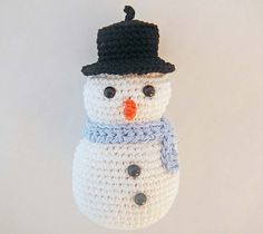 Ravelry: Christmas Ornament: Rodger the Snowman pattern by Ida Herter.