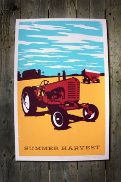 Classic Americana Summertime On The Farm Old Tractor by FarmhandCo