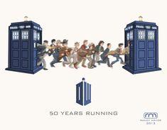 Doctor Who 50th anniversary gif by Randy Mayor - 11 Doctors, 1 half-century run
