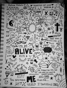 Pin by erika hernandez on journal ideas in 2019 dibujos tumb Hand Doodles, Easy Doodles Drawings, Tumblr Drawings, Simple Doodles, Cute Drawings, Cool Doodles, Notebook Drawing, Notebook Sketches, Notebook Doodles