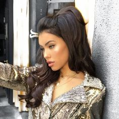 Kiss Looks So Natural Lashes Shy - Cute Makeup Guide Madison Beer Style, Madison Beer Outfits, Baddie, Maddison Beer, Long Hair Ponytail, Beautiful Girl Image, Beautiful Women, Natural Lashes, Dark Hair