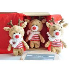 Crochet reindeerFREE SHIPPING amigurumi reindeer