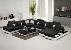 Connie Sectional Sofa - Leather Living Room Furniture - Fancy Furniture - Leather Sectional Sofa - from Opulent Items Leather Living Room Set, Leather Living Room Furniture, Sofa Furniture, Furniture Sets, Furniture Stores, Modern Furniture, Furniture Design, Outdoor Furniture, Sofa Set Designs