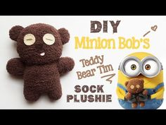 DIY Minion Bob's Teddy Bear Tim - Needle Felting Tutorial - YouTube