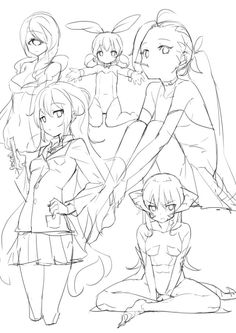 sketches and drawings Sketch Manga, Manga Drawing, Figure Drawing, Drawing Reference, Female Reference, Body Reference, Poses Manga, Anime Poses, Art Poses