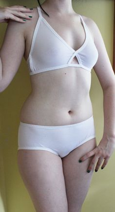 White Soft Bra and Panty set  Made to measure by XamiaArc on Etsy, $80.00