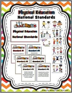 Physical Education National Standards Bulletin Board Posters And Clipart Quick Easy Way To Make