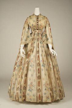 1856 American cotton dress.