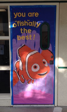 "You are o""fish""ally the best! Teacher Door Decorations, Class Decoration, School Decorations, School Themes, Disney Classroom, Classroom Door, Classroom Themes, Ocean Themes, Beach Themes"