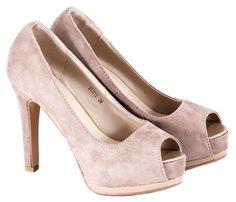 Pantofi bej cu platforma 209012B. Reducere 42%. Pret: 34.99 lei.