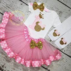 Birthday Girl outfit Minnie mouse One bodysuit,Baby girl Minnie mouse birthday outfit,Minnie mouse birthday smash cake Minnie Mouse Theme Party, Minnie Mouse Birthday Outfit, Minnie Mouse Pink, 1st Birthday Outfits, Bday Girl, Birthday Cake Girls, Baby Birthday, Birthday Ideas, Pink And Gold