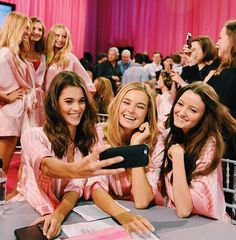 Pauline Hoarau, Bridget Malcolm and Megan Puleri backstage at the VS Victoria's Secret Fashion Show vsfs 2015 - december/ in NYC