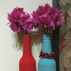 thari by niranjani sundar #thari #designstudio #interiors #ambience #vase #bougainville #paperflowers #niche #handcrafted #decor  lovely vase handcrafted by our dear friend Dinesh #loveit