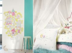 Textiles infantiles Casadeco http://www.mamidecora.com/papeles-pintados-ni%C3%B1os-casadeco.html