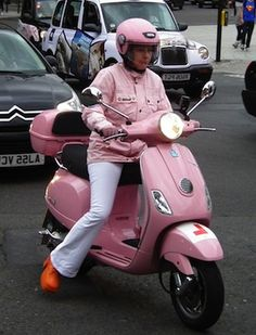 Pink scooting