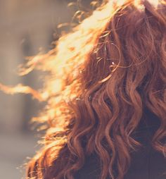 #Red #Curls in the Sun