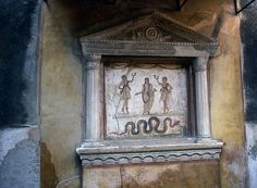 Pompeii: House of the Vettii (Lararium) | Flickr - Photo Sharing!