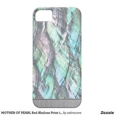 MOTHER OF PEARL Red Abalone Print iPhone 5/5S Case