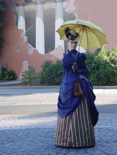 1887 Victorian Bustle Dress  - Outside of Taylor Hall, CSUC, 2012