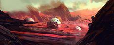 Martian Angkor Landing, Michael Broussard on ArtStation at https://www.artstation.com/artwork/aglOJ