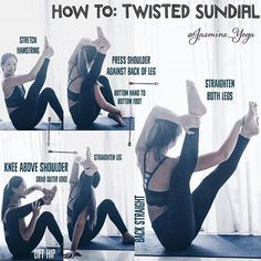 @Regrann from @jasmine_yoga - #JasmineYogaTutorial : #TwistedSundialPose A new variation to spice things up! Tips and tricks: 1) Warm up your hamstrings with any kinds of forward bends before trying 2) If your problem is not being able to hook your kn