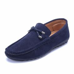 Classical Slip On Suede Round Toe Breathable Men Loafers Moccasins