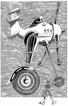 """Daniel Mróz, ilustracja - """"The Cyberiad""""  St. Lem"""
