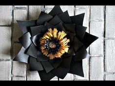 Огромный цветок из бумаги - YouTube
