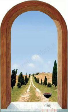 1000 images about trompe l oeil adesivi murali wall stickers on pinterest door stickers - Trompe l oeil finestra ...