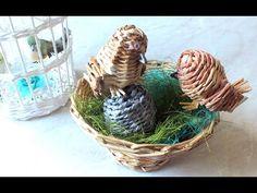Плетение из газет птичка weaving newspapers Tutorial cestaria com jornal - YouTube