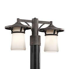Kichler Lighting 49374AVI 2 Light Lura Outdoor Post Mount