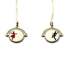 Dancing Couple Spin Off Necklace, $54, now featured on Fab. Boyfriend, if you secretly look at my pins, I want this.