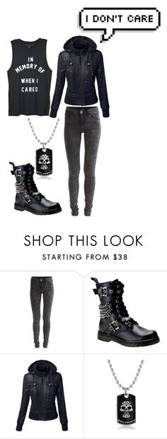 """""""I'm done caring"""" by aresgirl01 ❤ liked on Polyvore featuring VILA, Demonia and Bling Jewelry"""