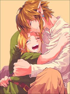 The Legend of Zelda series, Link (Skyward Sword/Twilight Princess) and Young Link... I dying from amazing/cute-ness
