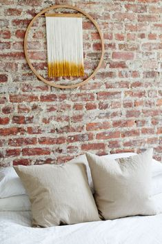 """""""I'm obsessed with interiors,"""" says the designer. """"[They've] always been the focus of my inspiration boards."""" Dreamcatcher, Julie Thevenot. #refinery29 http://www.refinery29.com/brooklyn-minimalism-apartment-tour#slide-17"""