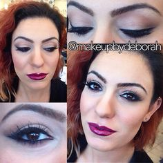 Full look from my client with the bold lips and sultry eyes.