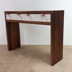 Solid Walnut Entry, Hall And Accent Table. by Kenny Lipowski