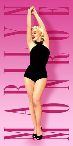 Marilyn Monroe Beach Towel pink swim Licensed Original new Marylin Monroe, Estilo Marilyn Monroe, Marilyn Monroe Wallpaper, Marilyn Monroe Fotos, Marilyn Monroe Movies, Joe Dimaggio, Divas, Pink Swim, Pinup Art