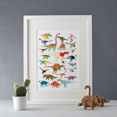 Dinosaurs Giclée Print A4 by ChaComLetras on Etsy