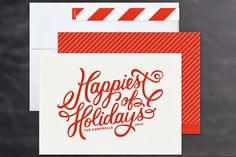 Jubilant holiday card for Minted, by Sarah Brown #handlettering #holidaycard #christmas