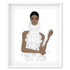 Megan Hess Limited Edition Print - Enchanted - McQueen Couture