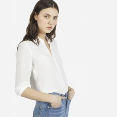 The Modern Silk Point Collar - Everlane