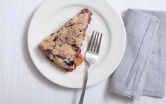Blueberry and Nectarine Buckle