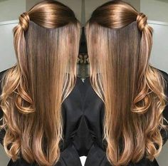 Hair style girl Step By Step for wedding Hair Lights, Light Hair, Curly Hair Styles, Natural Hair Styles, Hair Color And Cut, Hair Highlights, Balayage Hair, Hair Looks, Pretty Hairstyles
