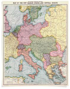 A 1914 National Geographic map of Central Europe