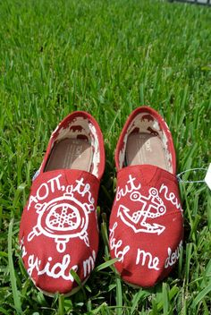 AOII Sorority Toms. via Etsy. Idea to create designs on Toms at a later time.