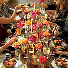 Love the roses! 16 Casual & Confident Supper Club Menus | Plan Your Supper Club Menu | SouthernLiving.com