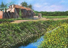 Fioritura al Mulin Prevost -- Acrilico su Tela 70x50cm - 2016 - Flowering at Mulin Prevost - Acrylic on Canvas 70x50cm - 2016