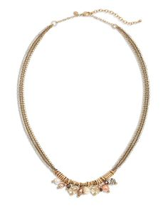 Chico's Women's Femme Charm Pendant Necklace, Blush, Size: One Size